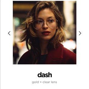 Diff Dash gold clear lenses
